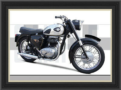 Bsa A65 Motorcycle Print / Classic Bike Poster