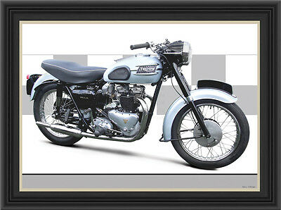 Triumph Thunderbird 650 1959 MOTORCYCLE PRINT /  MOTORCYCLE POSTER