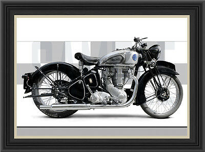 Bsa Gold Star 1939 Motorcycle Print / Classic Bike Poster