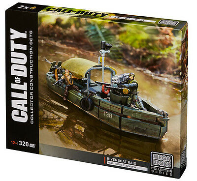 Mega Bloks Call Of Duty Riverboat Raid Building System Brand New In Box Dpb56