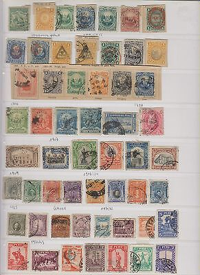 Peru Old Collection Of 55 Stamps Used And Unused -1874/1943 Good Values Quotes