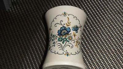 pretty white and blue purbeck pottery vase