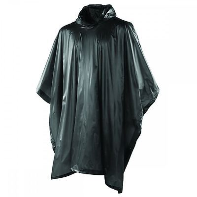 Yellowstone Lighweight Waterproof Poncho Black One size Camping Concert Outdoor