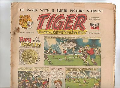 Tiger Comic No 91 (1956) - VG/VG+ - Roy of the Rovers