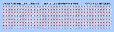 HO Scale Conspicuity Stripe Boley River Point Station RPS MOW Truck