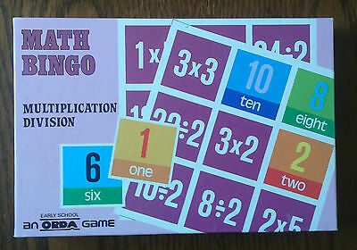 Math Bingo - Multiplication & Division - Educational Game - Orda Early School