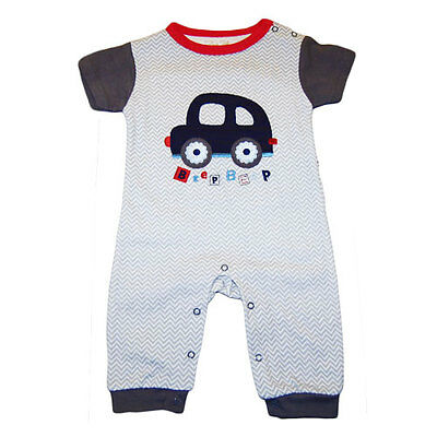 Baby Boy Beep Beep Coverall  Jumpsuit One piece Bodysuit 0-9 months