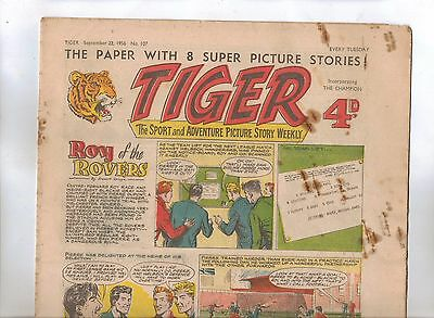 Tiger Comic No 107 (1956) - VG/VG+ - Roy of the Rovers