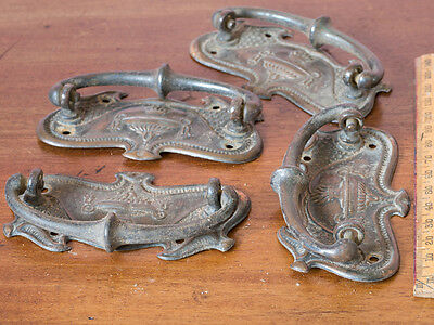 x2 pairs Antique Coppered Drawer Handles
