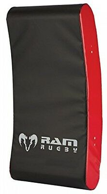 Ram Rugby Curved Hit Shield - Contact Pad - Black/Red (Junior)