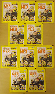 Despicable Me 3 ~ Topps Sticker Collection ~ 10 x Sealed Packs = 50 Stickers