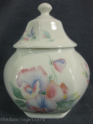 Aynsley Little Sweetheart Hexagonal Covered Caddy Fine Bone China England