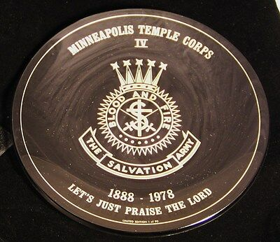 Salvation Army - ANNIVERSARY GLASS PLATE - MINNEAPOLIS TEMPLE CORPS 1888-1978