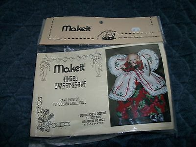 Porcelain Christmas Angel Sweetheart Half Doll Cross Stitch Kit