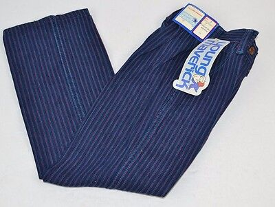 Vtg  MAVERICK Blue Bell Girls PINK PINSTRIPE Blue Denim Jeans 6 - NOS