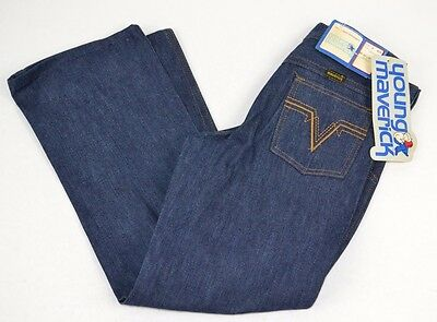 Vtg  MAVERICK Blue Bell Boys Dark Blue Straight Leg Jeans - 6 Reg NOS