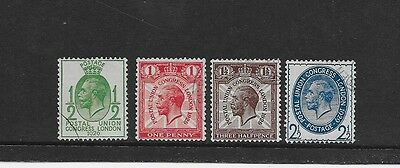 1929 Gb Kgv Postal Union Congress Issue Excellent Vfu Low Value Full Set (2)