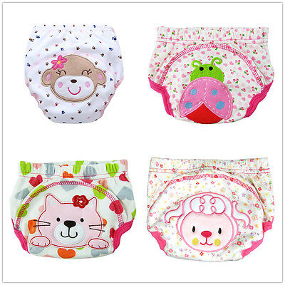 4 PCS Girls Toddler Potty Toilet Training Pants New Designs Multiple Designs