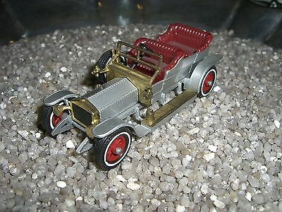 ROLLS ROYCE SILVER GHOST  MATCHBOX  Made in England by Lesney silber / gold