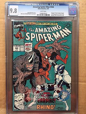 AMAZING SPIDER-MAN #344 CGC NM/MT 9.8; White Pg!; 1st Cletus Kasady (Carnage)!