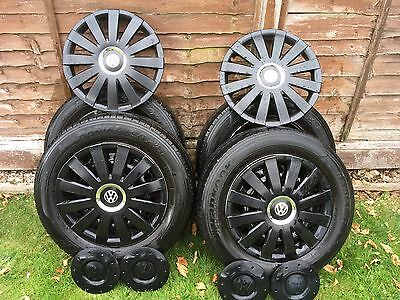 Set Of 4 Tyres And Wheels Vw Transporter