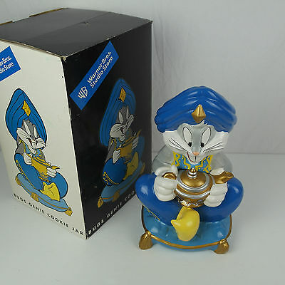 1998 Bugs Bunny Genie Cookie Jar with Box: Warner Brothers Studio Store VTG