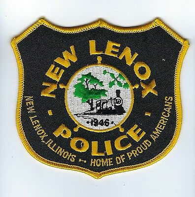 New Lenox (Will County) IL Illinois Police Dept. patch - NEW! Train Locomotive