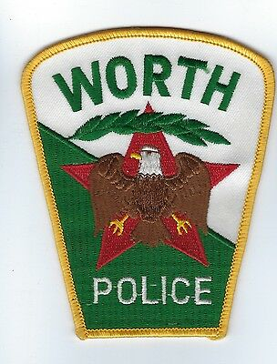 Worth (Cook County) IL Illinois Police Dept. patch - NEW! *CLOTH BACK*