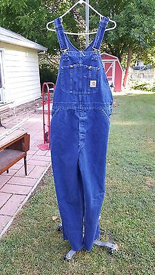 Vintage Carhartt Mens Bib Overalls 38X36 Union Made Great Condition