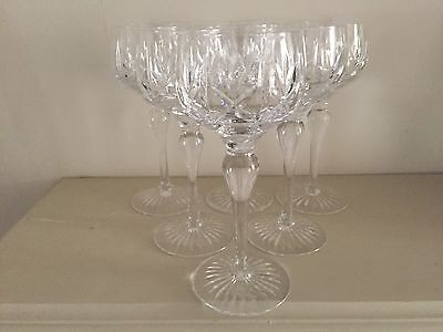 Stuart Crystal Hock Glasses, c.1960-70. Set of 6.