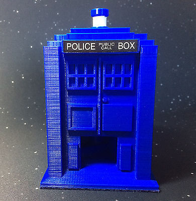 Doctor Who TARDIS Dice Tower Spiral Staircase  3D Printed Blue - Board Games