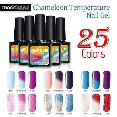 Modelones Temperature Changing Nail Gel Polish UV LED Soak Off  Manicure 10ml