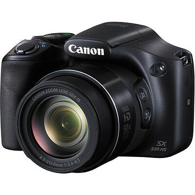 Canon PowerShot SX530 HS 16MP 50x Optical Zoom IS 1080p HD Video Digital Camera