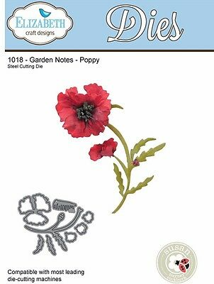 Elizabeth Craft Designs - Garden Notes - POPPY  ECD1018