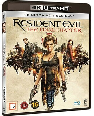 Resident Evil Final Chapter 4K UHD + Blu Ray (Region Free)