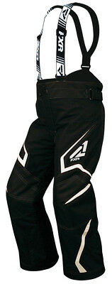 FXR Youth Black/White Helix Insulated Snowmobile Pants Snow