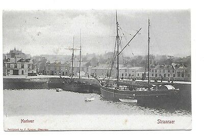 STRANRAER Harbour Wigtownshire Early Postcard 1906 Postmark