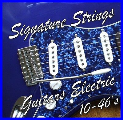 3 Sets ELECTRIC GUITAR STRINGS 10-46's LIGHT Gauge Nickel wound .010 - .046