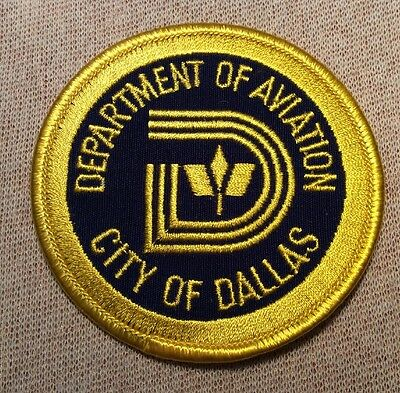 TX City of Dallas Texas Department of Aviation Patch (3In)