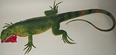 40 Inch Realistic Rubber Lizard Replica - Common Green Iguana