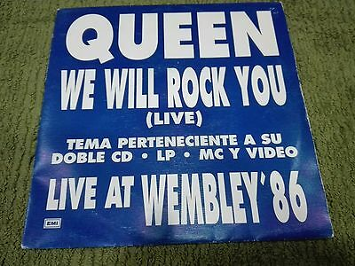 "Queen-We Will Rock You (Live)-  Rare Spanish 7"" Live At Wembley' 86"