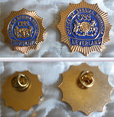 Michael Jackson - Neverland - Set Of 2 Official Of Special Services Pins - Rare