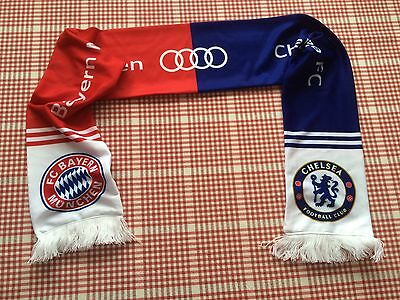 Chelsea Football Champions League Final Scarf Bayern Munich Collectable Audi