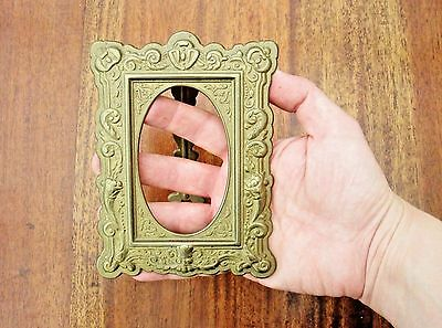 Ornate Rococo Brass Photo Picture Frame In The Art Nouveau Style - Beautiful