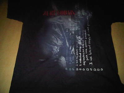 Kurt Cobain XXL 2XL Nirvana Handwriting Journal Diary Shirt