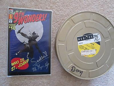 9th Wonders  NBC Prop Comic Signed 2 Heroes Cast and Film Can Hard to Find
