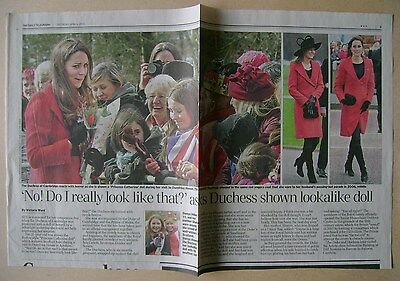 KATE MIDDLETON - small collection of newspaper clippings / cuttings
