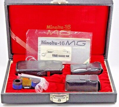 Minolta 16 MG mini Spy camera with accessories - all in presentation case