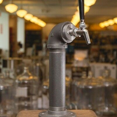 Draft Beer Tower - Black Iron - Single Tap - Perlick 630SS Faucet