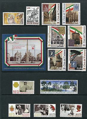 Vatican City 2012 Complete Year Set NH - Scott 1493-1514 With 1515 Colonade
